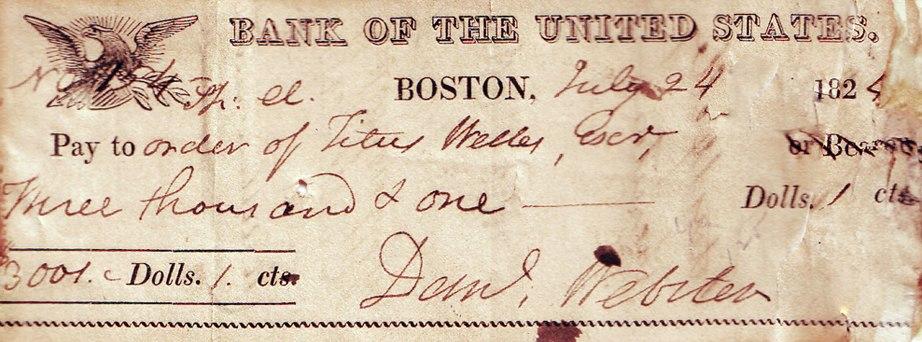 Daniel Webster 1824 Signature