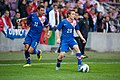 Darijo Srna (L), Alen Halilovic - Croatia vs. Portugal, 10th June 2013.jpg