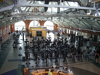 Alumni Gymnasium (Dartmouth College) - The Fitness Center as viewed from the mezzanine