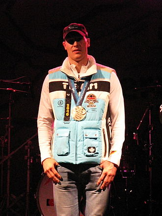 David Möller - Möller with his silver medal at the 2010 Winter Olympics