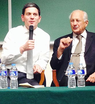 Shahryar Khan - David Milliband with Mr Shahryar Khan at Lahore University of Management Sciences (LUMS), speaking at a talk organised by LUMUN  on 18th Nov, 2014