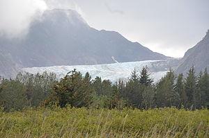 Davidson Glacier - Davidson Glacier from Kalhagu Cove, 24 August 2011