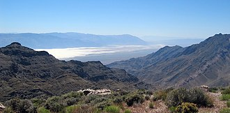 Places of interest in the Death Valley area - Badwater Basin from Aguereberry Point