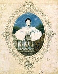 Deburau jako Pierot, plakát okolo 1830