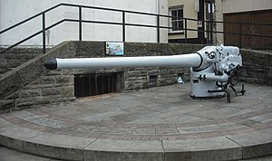 SM UB-91 - Deck gun in Chepstow today