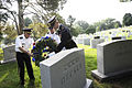 Defense.gov News Photo 100614-A-0193C-006 - Army Chief of Staff Gen. George W. Casey Jr. and Sgt. Maj. of the Army Kenneth O. Preston lay a wreath at former Chief of Staff of the Army Gen.jpg
