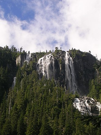 Strathcona Provincial Park - Della Falls, the highest waterfall in Canada, is accessible via a 15.5. km trail.