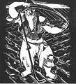 Derkovits, Gyula - Dózsa-series II. Peasant Whettering the Scythe (1928).jpg