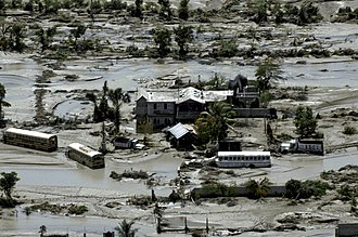 Hurricane Ike - The remains of a school in Port-au-Prince, Haiti on September 15, 2008