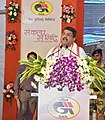 Dharmendra Pradhan addressing at the launch of the Piped Natural Gas (PNG) supply by the Gas Authority of India Ltd. (GAIL), at NALCO Nagar, Bhubaneswar, in Odisha.jpg