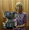 Dianne Evers. holding the Australian Open Women's Doubles Trophy.jpg