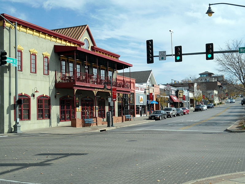 File:Dickson Street and West Avenue, Fayetteville, Arkansas.jpg