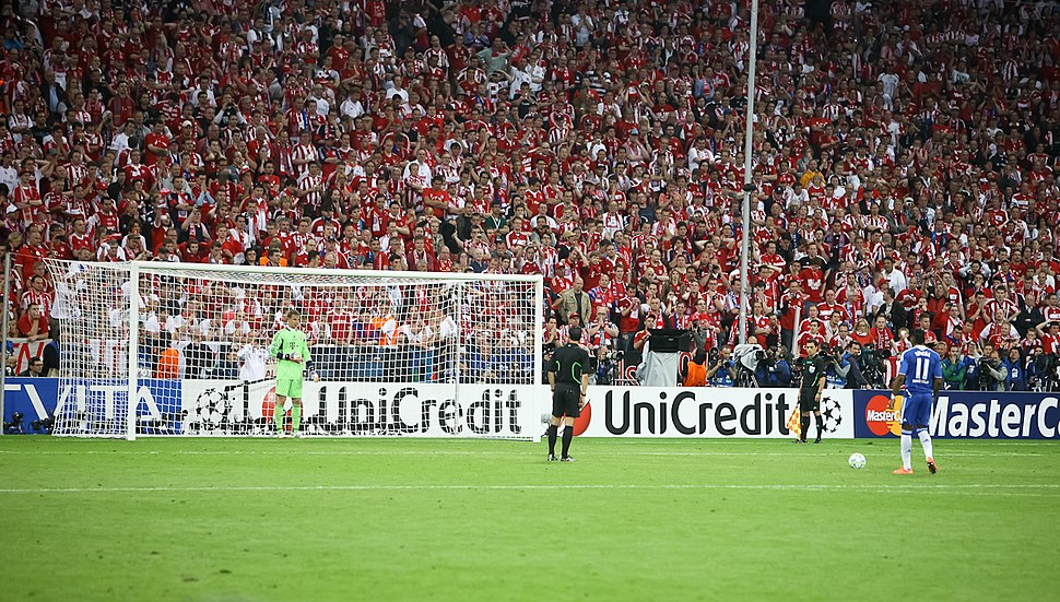 Didier Drogba Manuel Neuer last penalty kick Champions League Final 2012