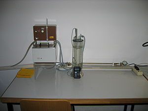 Dilatometer - A simple structure of a dilatometer for the measurement of the thermal expansion of liquids and solids
