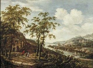 Hilly River Landscape