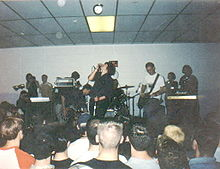 Discount performing at Michiganfest 2000 in Wayne, Michigan, on March 25th, 2000