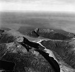 Dixon Harbor and Thistle Cove, U shaped valley and outwash plain, September 12, 1973 (GLACIERS 5469).jpg
