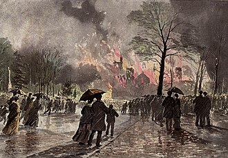 University College, Toronto - The University College fire of 1890, Dominion Illustrated