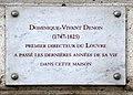 Dominique-Vivant Denon plaque - 7 Quai Voltaire, Paris 7.jpg