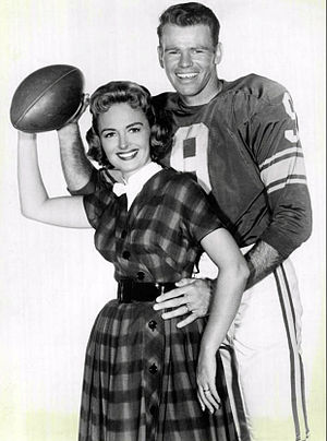 Bill Wade - Wade with Donna Reed, 1959