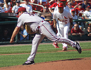 Doug Davis (pitcher) - Davis pitching for the Arizona Diamondbacks in 2008.