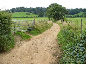 Downs Link - Image: Downs Link Footpath