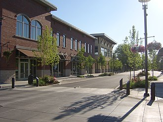Washougal, Washington - Downtown Washougal facing west