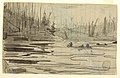 Drawing, Canoes on Lake, ca. 1897 (CH 18174591).jpg