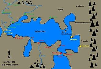 Renegade of Kregen - Map of the Eye of the World