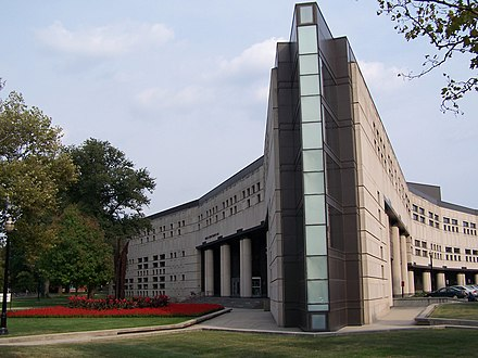The Ohio State University's Drinko Hall is home of the Michael E. Moritz College of Law Drinko Hall (2006).jpg