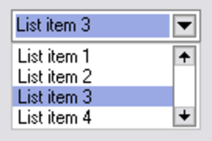 Drop-down list - A drop-down list or drop-down menu or drop menu, with generic entries