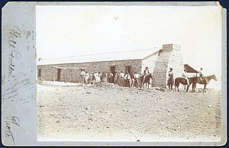 Durham Downs Station - Durham Downs - shearing shed, 1878