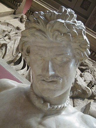 Limewater - Closeup of cast of The Dying Gaul, showing distinctive hairstyle, supposedly derived from washing in limewater.