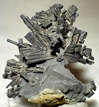 Příbram - Dyscrasite specimen from a uranium mine near Příbram