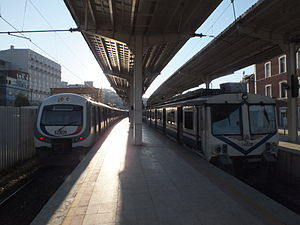 Istanbul suburban - E23020 (left) and E14048 (right) at Sirkeci Station.