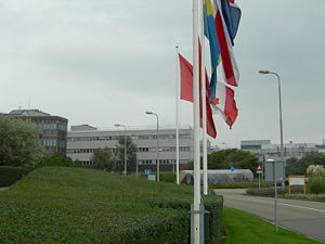 European Space Agency - ESTEC buildings in Noordwijk, Netherlands. ESTEC was the main technical centre of ESRO and remains so for the successor organisation, ESA.