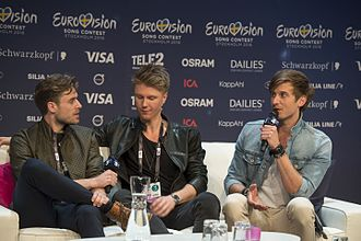 Denmark in the Eurovision Song Contest 2016 - Lighthouse X during a press meet and greet