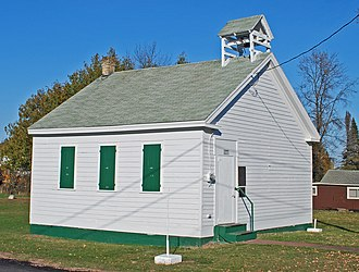 National Register of Historic Places listings in Keweenaw County, Michigan - Image: Eagle Harbor Schoolhouse MI
