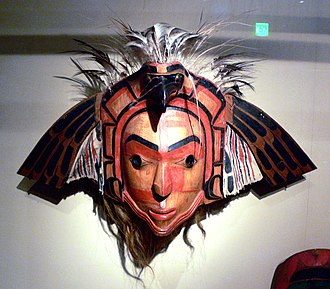 Nuu-chah-nulth - Nootka eagle mask with moveable wings, Ethnological Museum, Berlin, Germany