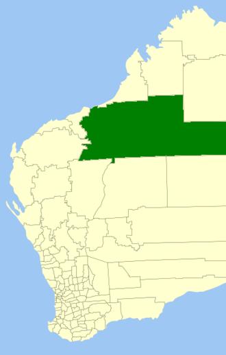 Shire of East Pilbara - Location in Western Australia