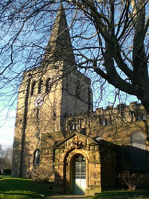 Eckington, Derbyshire - Image: Eckington Parish Church Feb 07