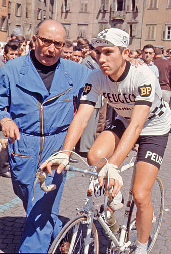 At the 1967 Giro d'Italia Merckx won his first Grand Tour stages on the way to finishing ninth overall. Eddy Merckx 1967.jpg