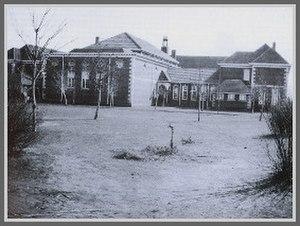 Edith Aitken - Back of school in 1923