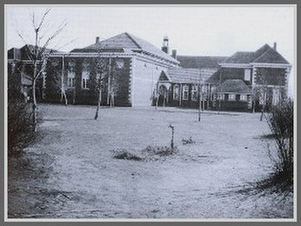Edith Aitken - Back of school in 1923