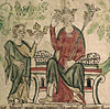 Contemporary depiction of Edward II