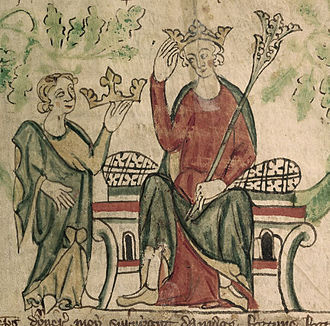 Roger Northburgh - Edward II receiving the crown.