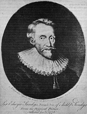 Edwin Sandys (died 1629) - Sir Edwin Sandys, 1776 mezzotint by Valentine Green.