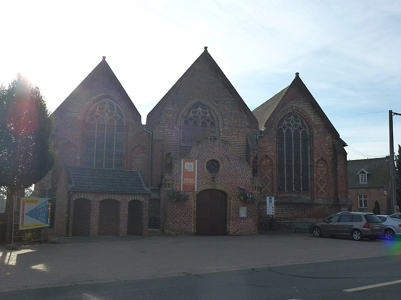 Eecke (Nord, Fr) l'église, façade