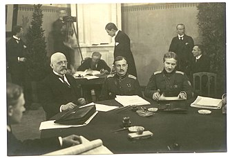 Treaty of Tartu (Russian–Estonian) - Part of the Estonian delegation at the Treaty of Tartu (left to right): Jaan Poska, Jaan Soots and Victor Mutt.