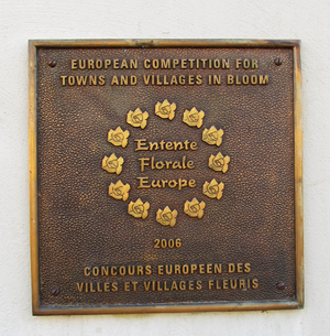 Entente Florale - Commemorative plaque in Eguisheim, 2006 gold medal in the villages category